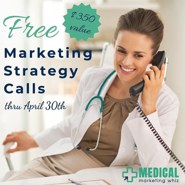 free strategy call with medical marketing whiz